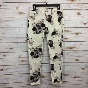 American Eagle Floral Skinny Jeggings Jeans